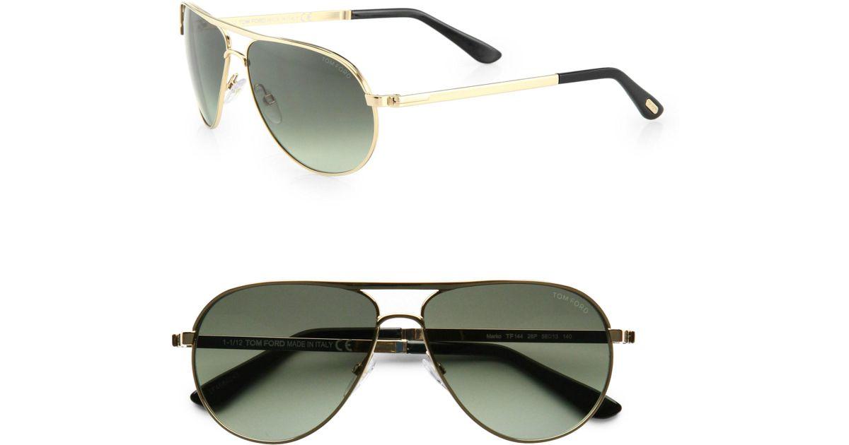 f929e84104 Lyst - Tom Ford Marko 58mm Aviator Sunglasses in Metallic