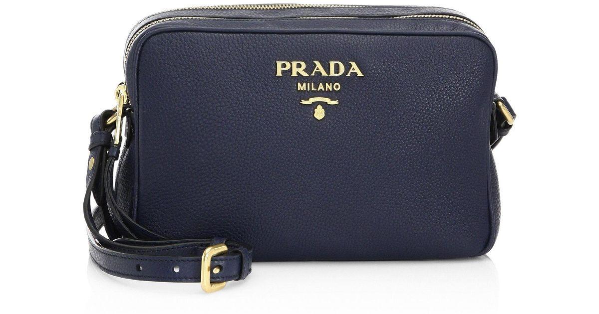 1cc2413bc Prada Daino Crossbody Camera Bag in Blue - Lyst