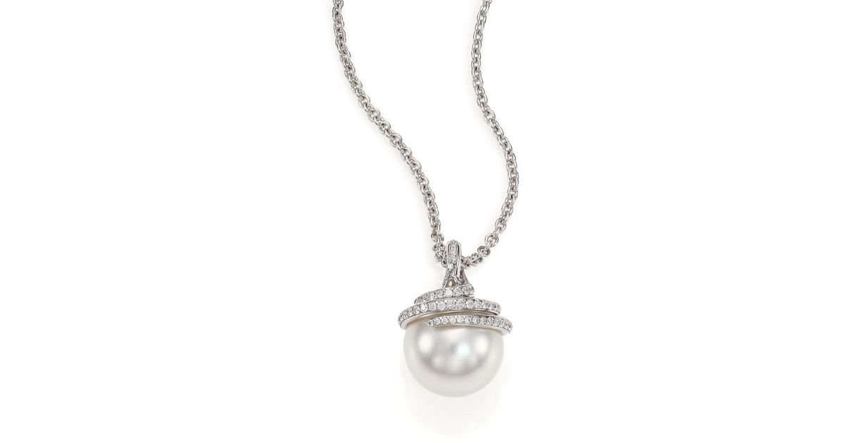 pendant necklace diamond tahitian jewelry pearl product designs