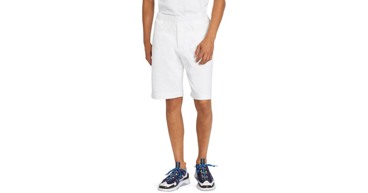06fcbadac65c Lyst - KENZO Nylon   Cotton Jersey Shorts in White for Men