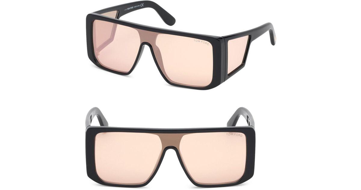 9e52c426209 Tom Ford Atticus Shield Sunglasses in Black - Lyst