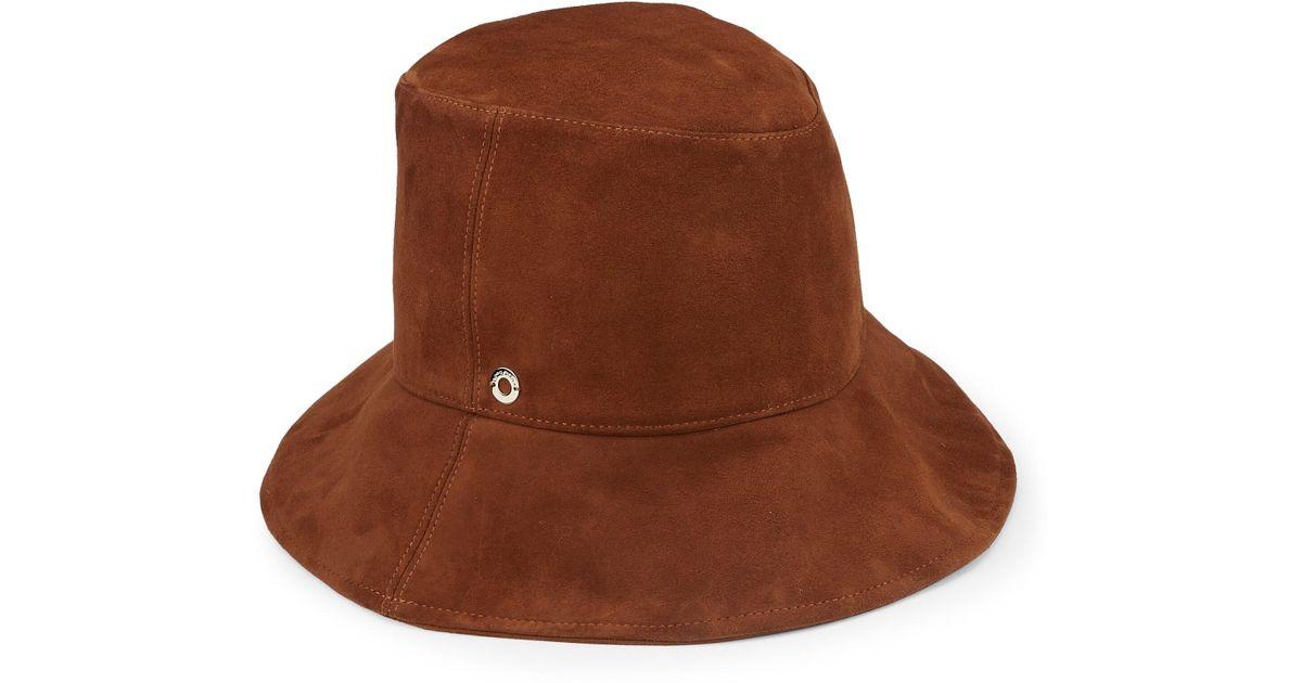 6116f8da201 Loro Piana - Brown Nellie Suede Bucket Hat - Lyst