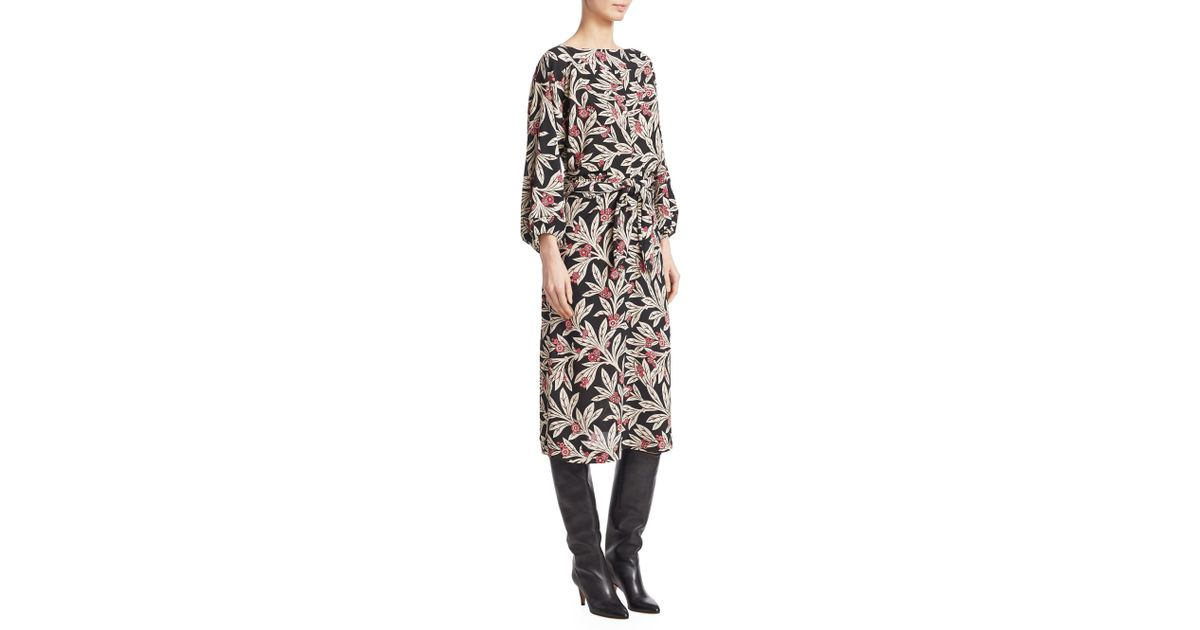 b91e565ac02 Lyst - Étoile Isabel Marant Lisa Floral-print Crepe Dress in Black - Save  70%