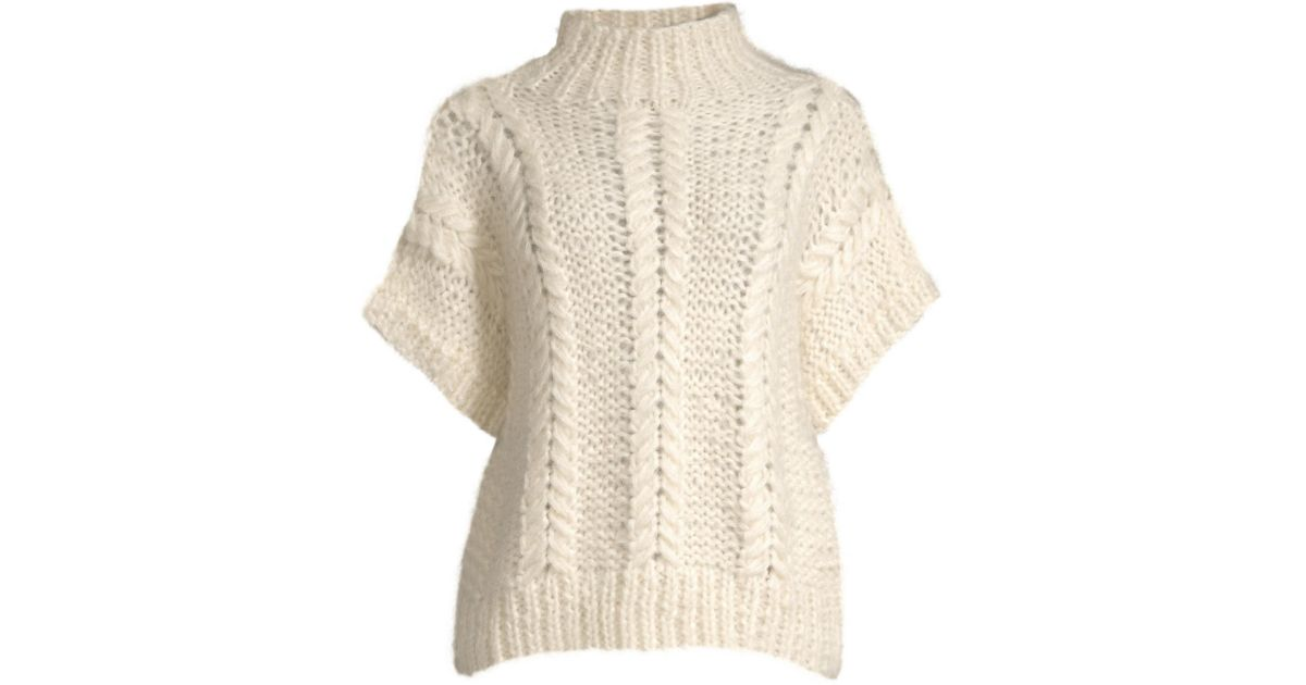 e42713d7f5 Ganni Hand-knit Wool Pullover in Natural - Lyst