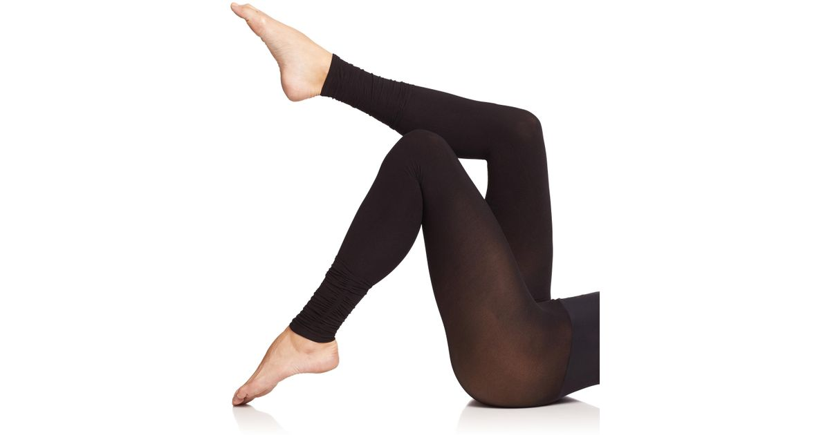 57165c51d2a18 Commando Ultimate Opaque Ruched Footless Tights in Black - Lyst