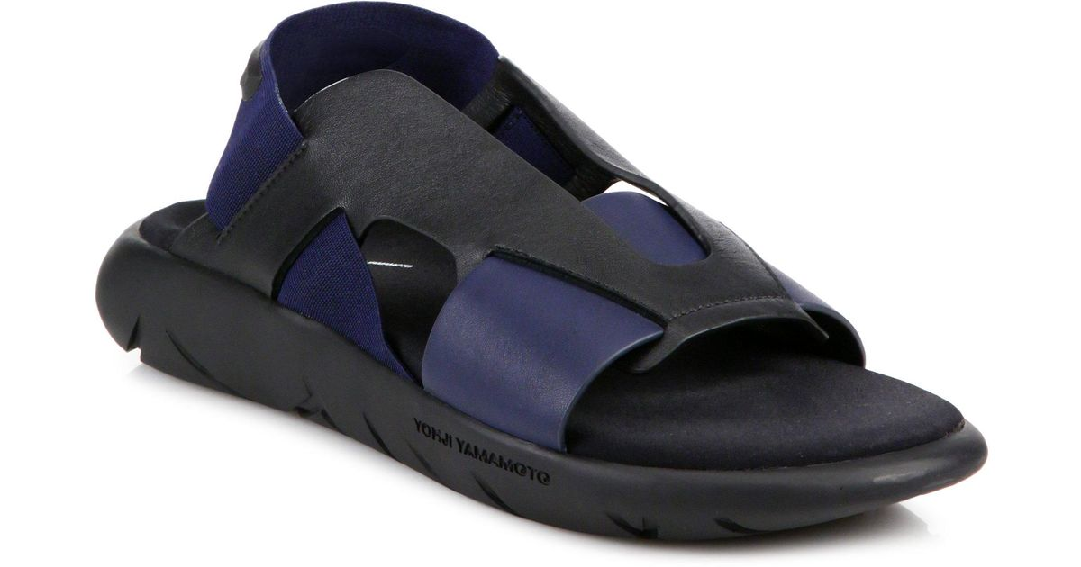 5592a6030 Y-3 Qasa Elle Sandals in Blue - Lyst