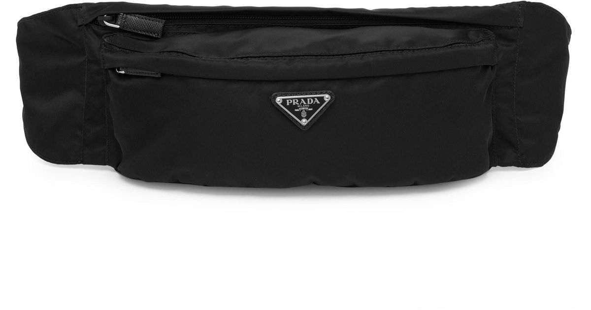 b3956df3354272 Prada Tessuto Montagna Belt Bag in Black for Men - Lyst