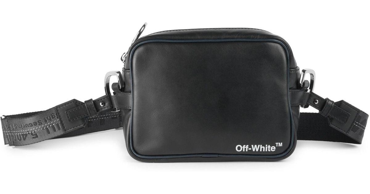 53d4dee7b Off-White c/o Virgil Abloh Men's Leather Crossbody Bag - Black White in  Black for Men - Lyst