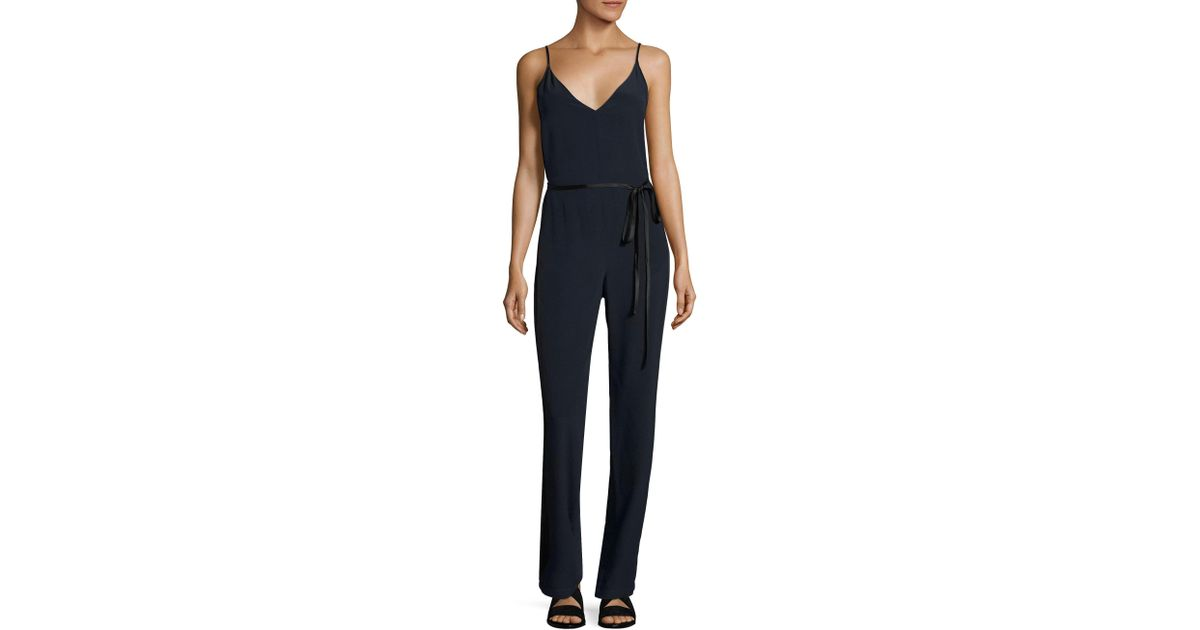 6f14883e331b Rag   Bone Rosa Silk Jumpsuit in Blue - Lyst