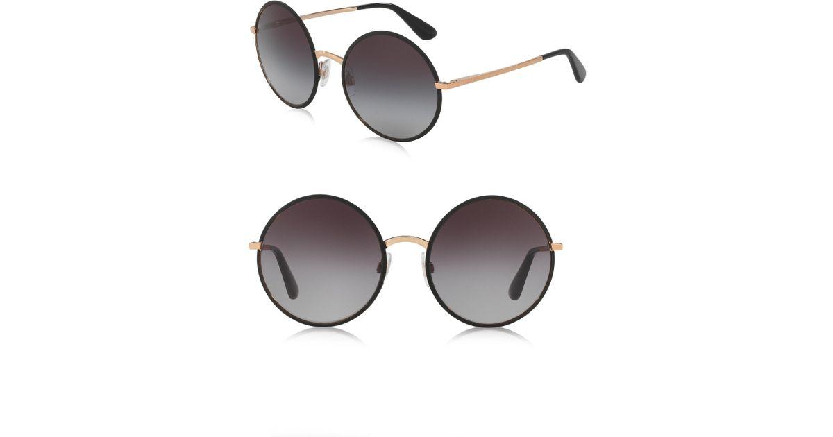c8cb92068bc Lyst - Dolce   Gabbana 56mm Round Sunglasses in Black
