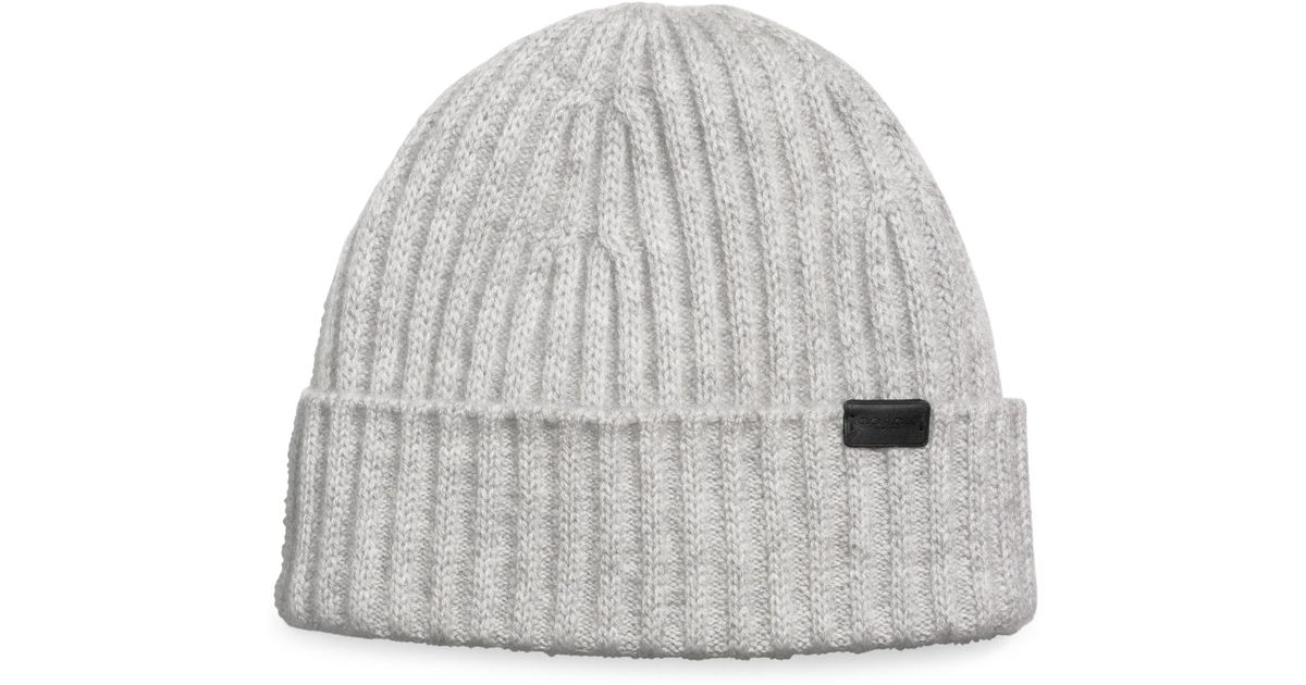 COACH Cashmere Beanie in Gray for Men - Save 25% - Lyst fd7de5c299b0