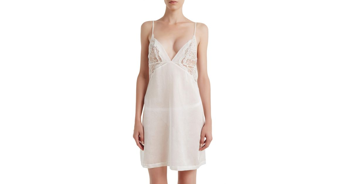 Lyst - La Perla Jazz Time Short Nightgown in White