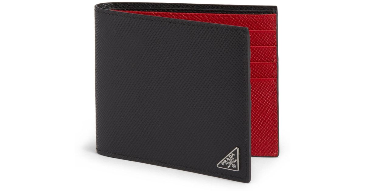 499f7d172566b Lyst - Prada Saffiano Cuir Billfold Wallet in Black for Men