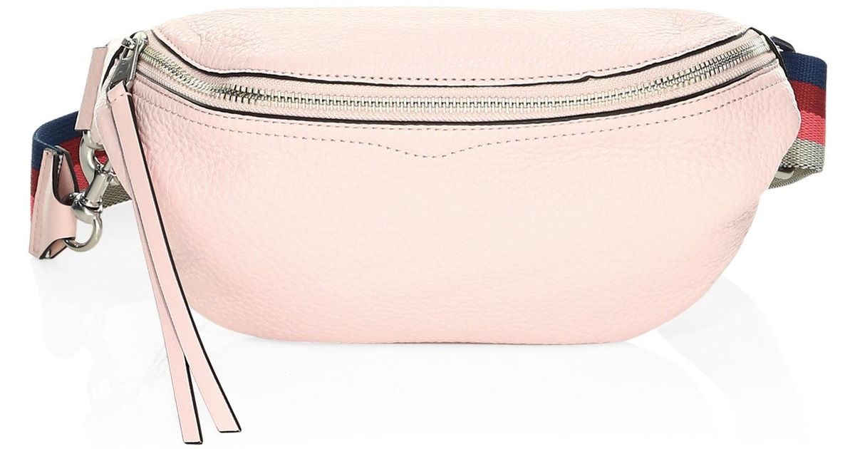 03ca619d79f2 Rebecca Minkoff Bree Leather Belt Bag in Pink - Lyst