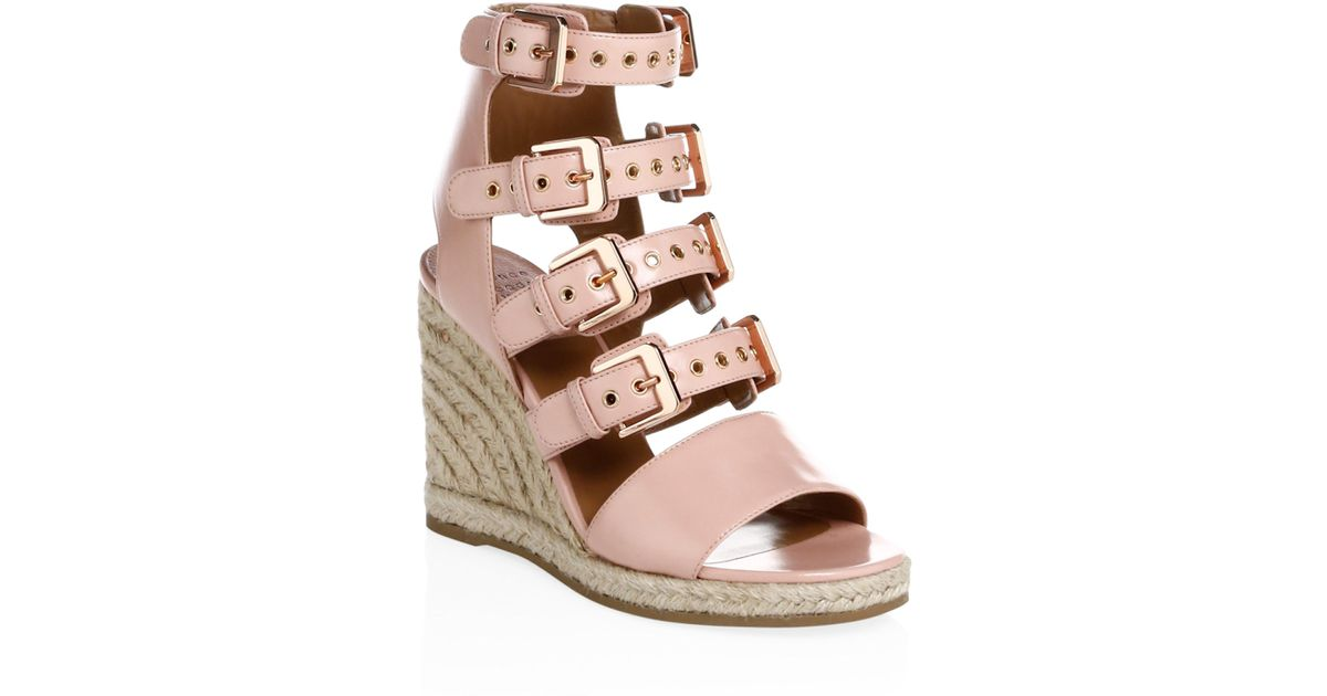 Rosario Buckled Leather Espadrille Wedge Sandals - Chocolate Laurence Dacade eNXYbxl