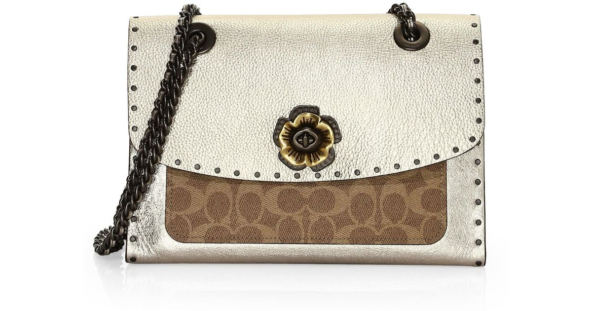 best sneakers 68944 71fc0 coach-multi-Parker-Leather-Shoulder-Bag-With-Rivets-And-Snakeskin-Detail.jpeg