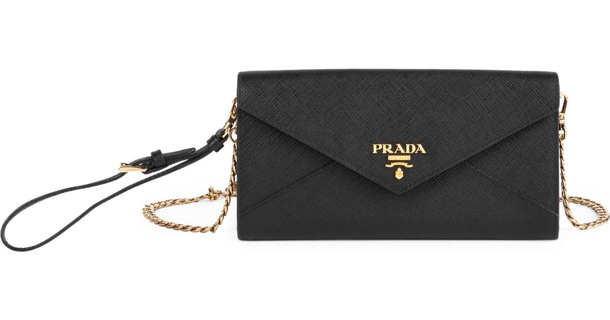 22ff233d4e65ca ... where can i buy lyst prada saffiano envelope wallet in black 57e87  570ae discount code ...