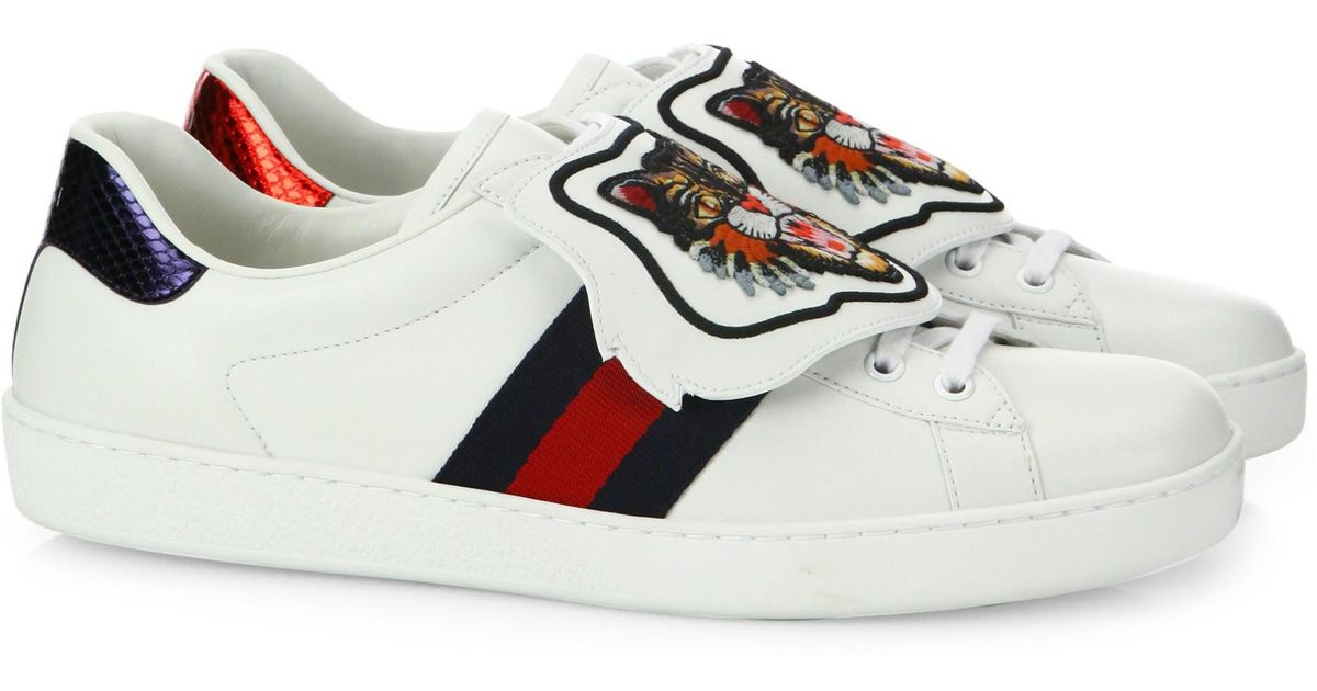 20b1a80801a Gucci Ace Sneaker With Removable Patch in White - Lyst
