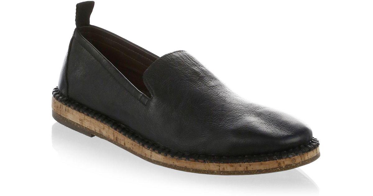 319c3c50876 Lyst - John Varvatos Zander Leather Loafer in Black for Men