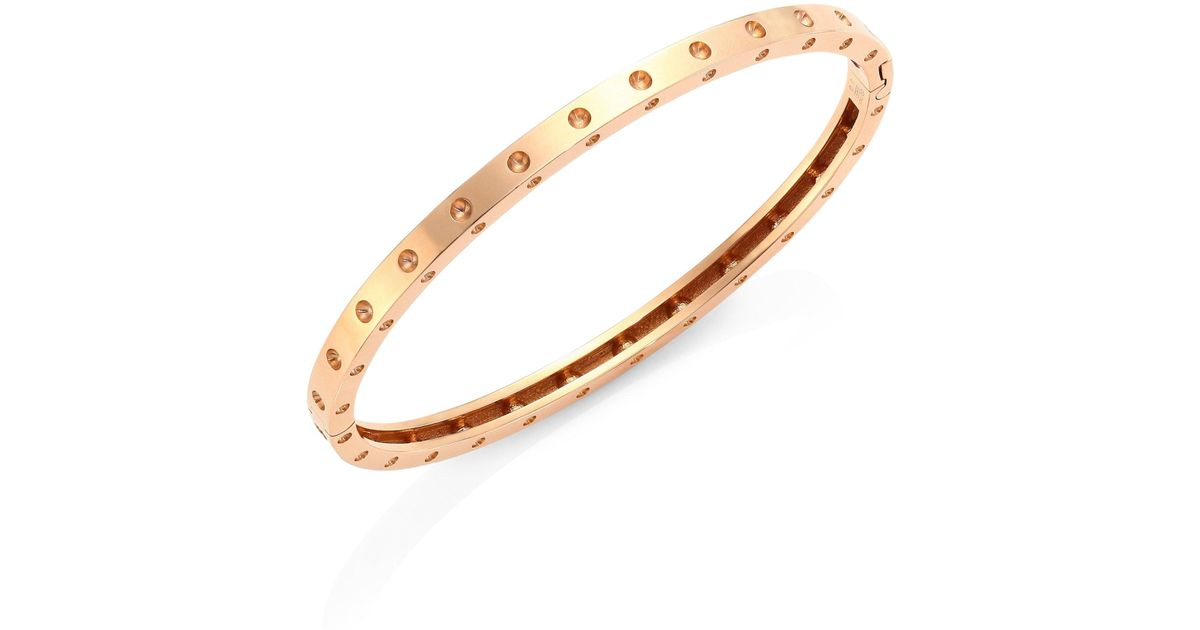 lyst metallic bangles roberto bangle oval gold coin s rose women bracelet in jewelry