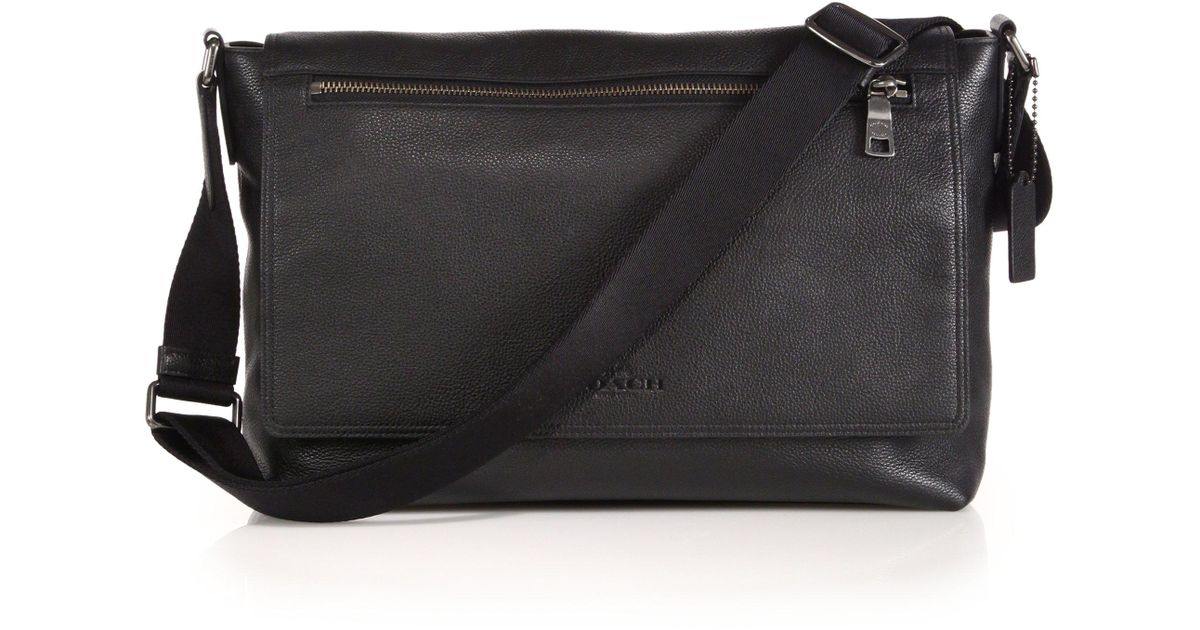 69bfe0631 ... coupon code for lyst coach sullivan leather messenger bag in black for  men ccb1b 4db98