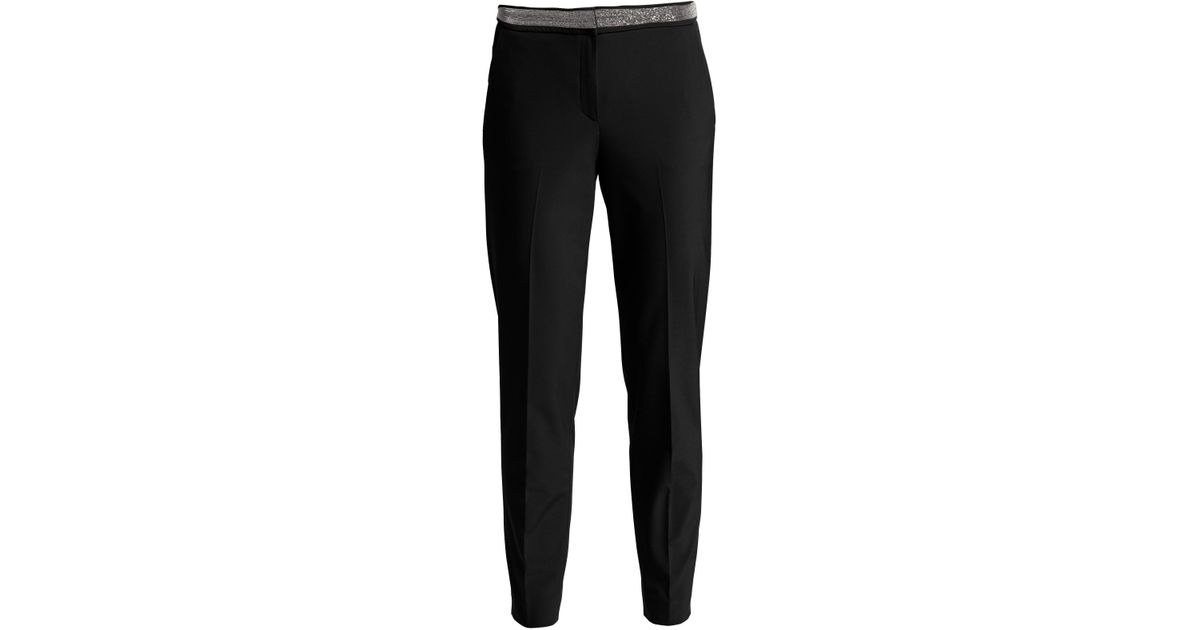 918af29443 Fabiana Filippi Slim-fit Techno Pants in Black - Lyst
