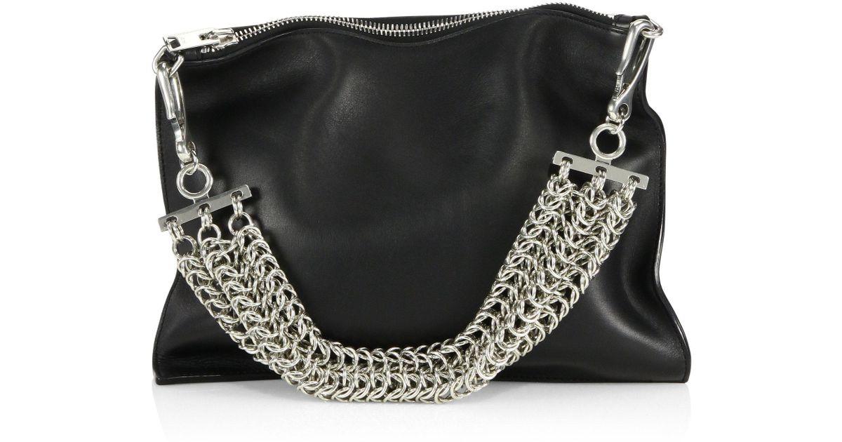 c73463c968ba Alexander Wang Genesis Leather Chain-handle Bag in Black - Lyst