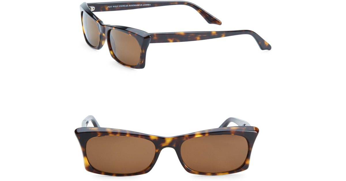 Muhren rectangle-frame sunglasses Andy Wolf xQlhVy