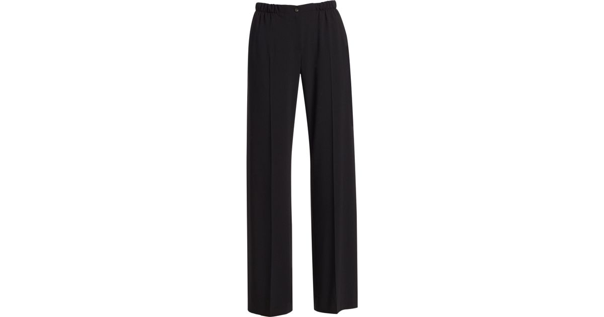 2ac003f820 Emporio Armani - Black Stretch Crepe Fluid Pants - Lyst