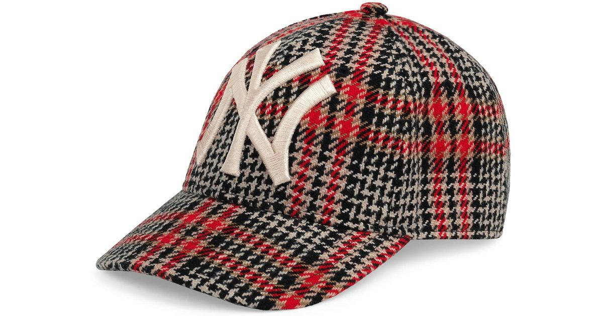bd15f75abfb Lyst - Gucci New York Yankees Diamante Baseball Cap in Red for Men