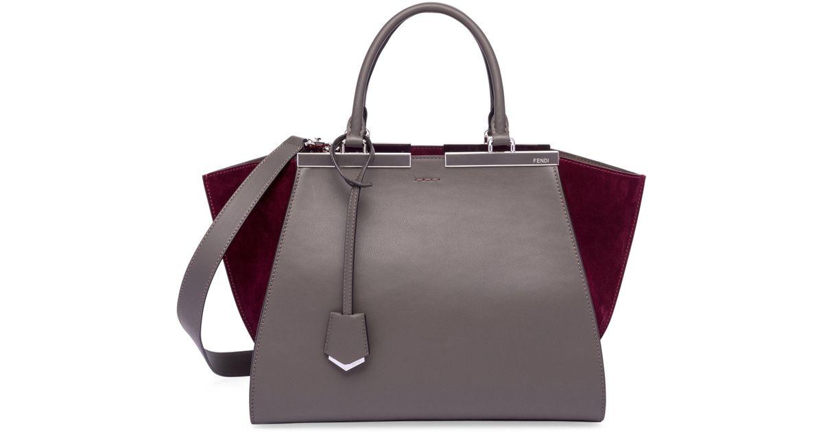 Fendi 3 Jours Leather   Suede Shopper Bag - Lyst 85b6e50efa9c7