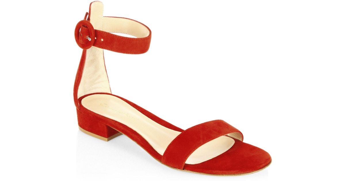 Gianvito Rossi Portofino Studded Suede Strap Sandals woaNvKK