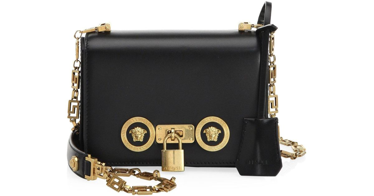 Lyst - Versace Icon Small Leather Shoulder Bag in Black 0c3366e98146a