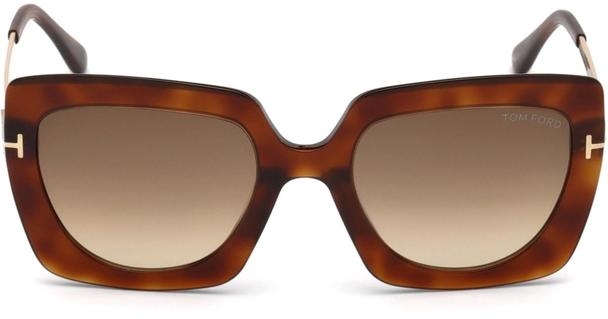 5d7233ab0d Lyst - Tom Ford Jasmine 53mm Two Tone Square Sunglasses in Brown - Save 65%