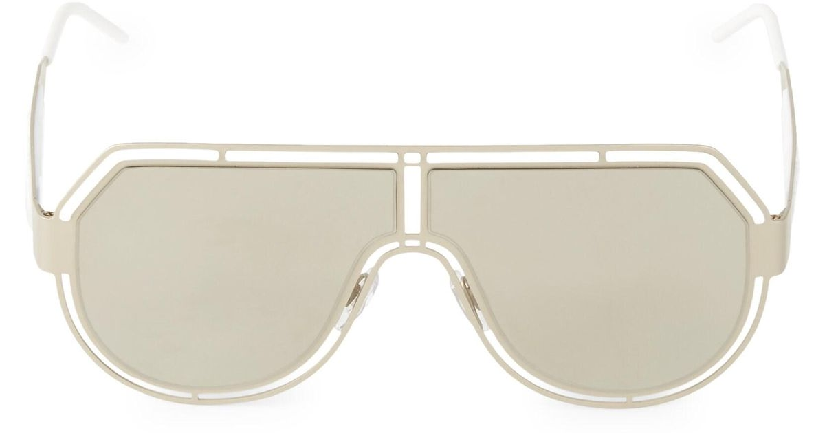 778efb7be767 Dolce & Gabbana Men's Charisma 59mm Mirrored Aviator Sunglasses - Pale Gold  in Metallic for Men - Lyst