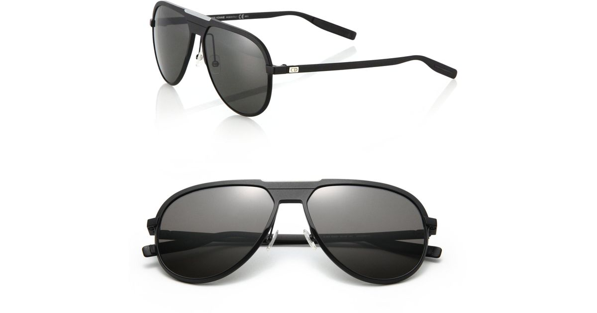 a340a0c006 Dior Homme 136 s 59mm Mirror Aviator Sunglasses in Black for Men - Lyst