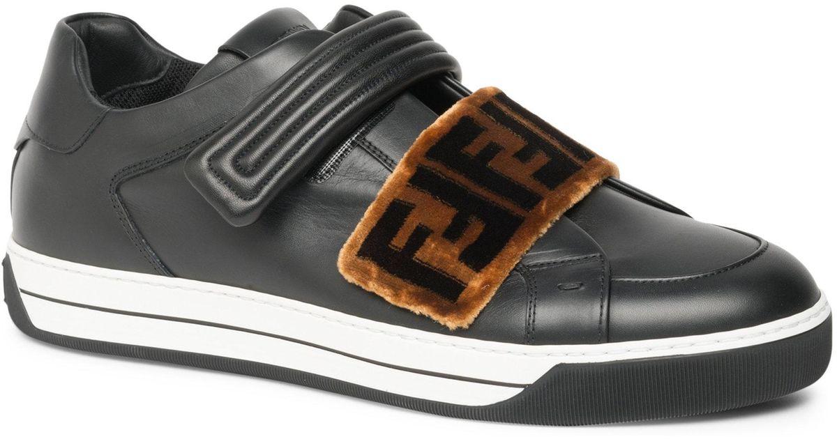 Fendi logo strap sneakers genuine sale online best sale for sale RGHl7L
