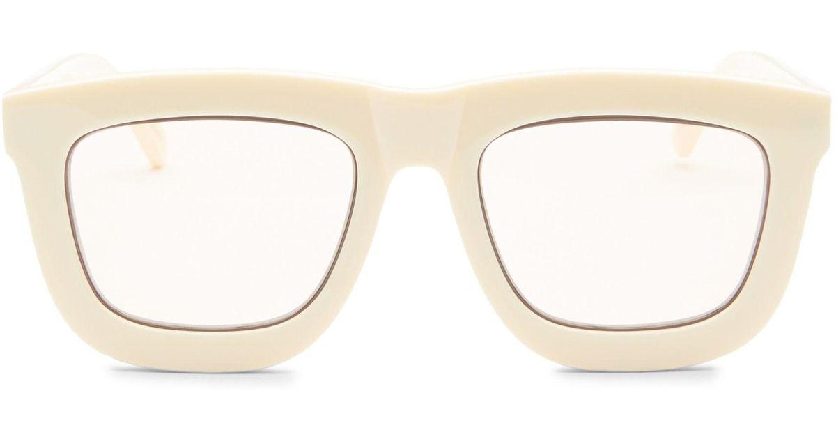 49ca5dfd788 Karen Walker Women s Deep Worship 55mm Square Sunglasses - Ecru - Lyst