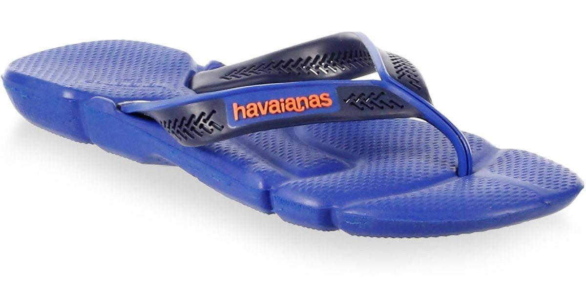 e23efd9fa17df1 Lyst - Havaianas Men s Power Three-tone Flip Flops - Black Steel - Size  45-46 (13) in Blue for Men