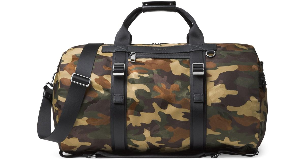 302b83b951d0 Michael Kors Kent Camo Backpack Duffle Bag in Green for Men - Lyst
