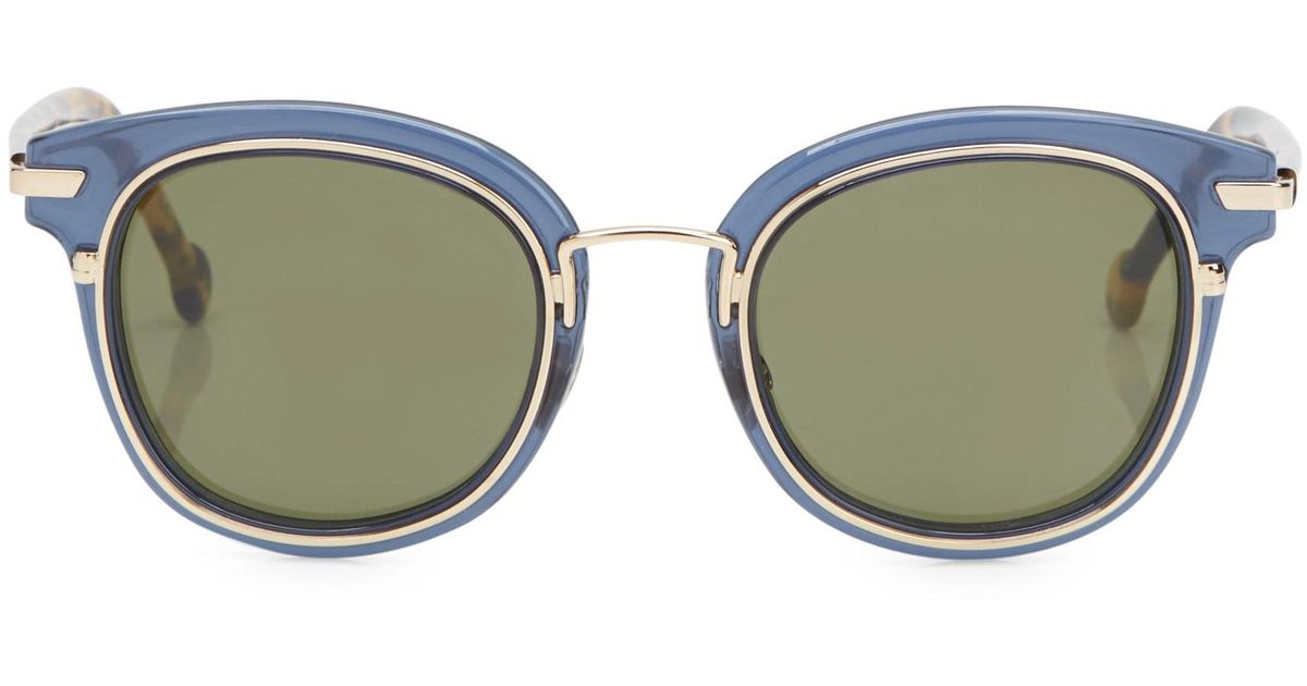 6abd3bd5ecb Dior Origins 2 48mm Square Sunglasses in Blue - Lyst