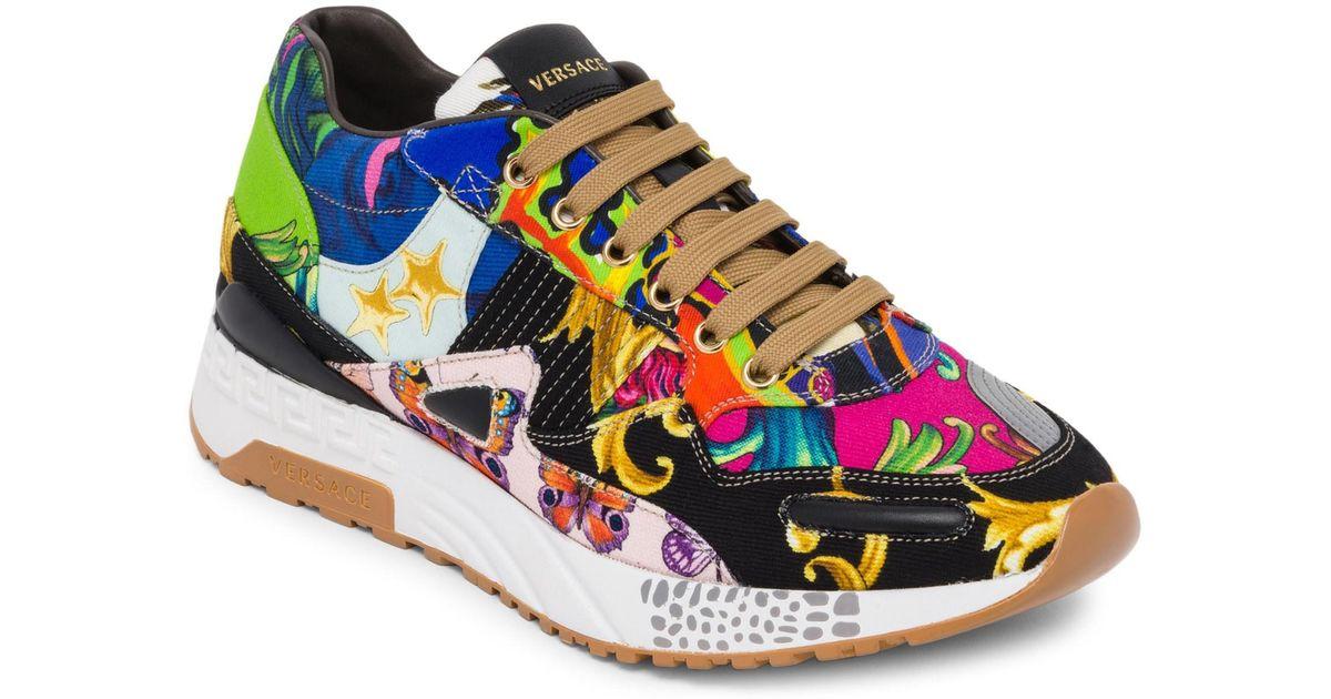 Mix Print Achilles Barocco For Versace Lyst Sneakers Men 8E5qwxtAx