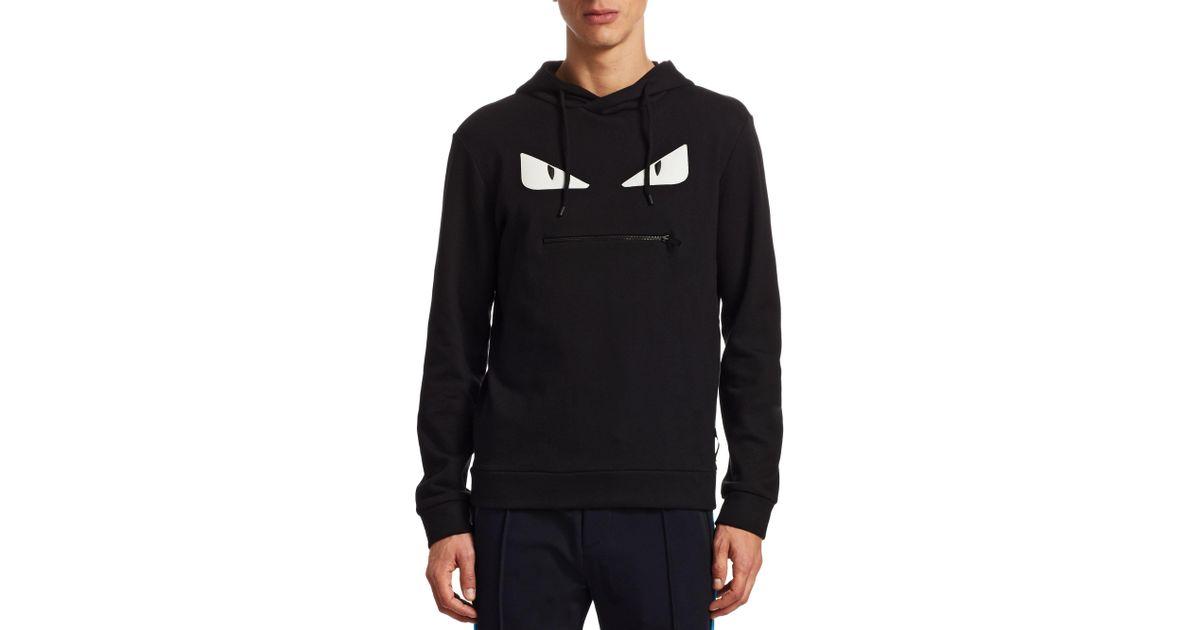 999cb4224aa4 Lyst - Fendi Monster Zip Mouth Sweatshirt in Black for Men