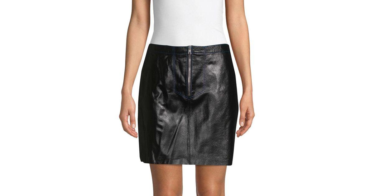 e3e9ec12bc Sandro Ray Leather Mini Skirt in Black - Lyst