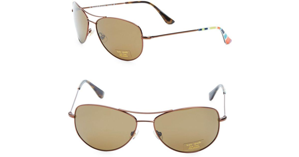 d854ad7061ed Kate Spade Ally Polarized Metal Aviator Sunglasses for Men - Lyst