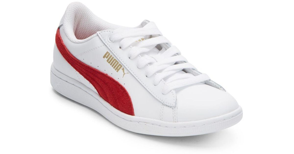 384a1202adf Puma Vikky Leather   Suede Platform Sneakers in White