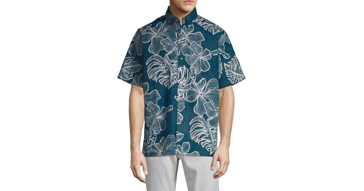 969e0df57 Reyn Spooner Mauna Monstera Button-down Shirt in Blue for Men - Lyst