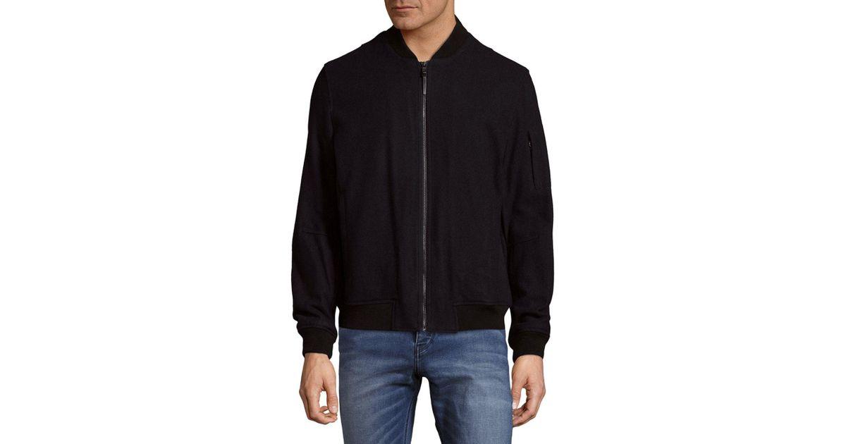 Michael Kors Aviator Office Jacket In Black For Men Lyst