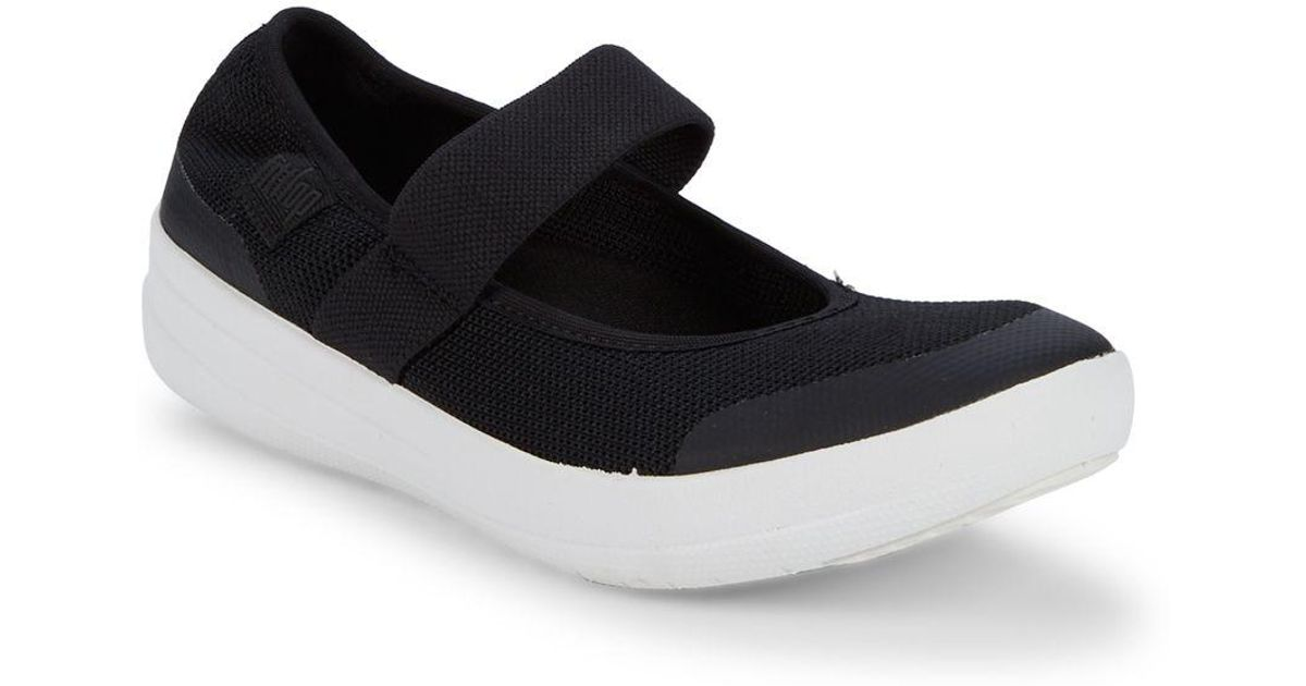 e5b7329c28f9da Fitflop Uberknit Mary Jane Slip-on Flats in Black - Lyst