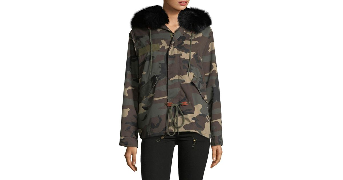 f727a293c7758 AVA & KRIS Cotton Lila Dyed Fur Parka in Black - Lyst